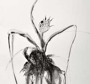 <span>- ink on paper -</span>73&#215;110 cm Ink on paper 2 2018 דיו על נייר